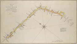 PLAN of the CITY ROAD Taken at Midsummer 1805 BY ORDER OF THE TRUSTEES